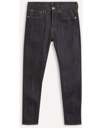 Edwin Ed80 Red Listed Selvedge Rinse Jeans - Blue