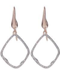 Monica Vinader - Gold-plated Riva Diamond Hoop Earrings - Lyst