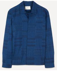 Folk Patch Shirt - Blue