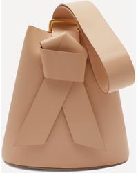 Acne Studios Knotted Leather Bucket Bag - Brown