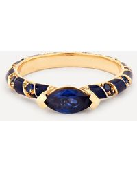 Alice Cicolini Gold Memphis Blue Sapphire Candy Pave Ring - Metallic