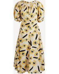 Rejina Pyo Maggie Off-shoulder Puff-sleeve Dress - Multicolour