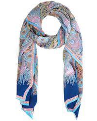 Liberty Hera Long Silk Scarf - Blue