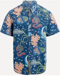 Reyn Spooner Deep Sea Jive Print Button-down Shirt - Blue