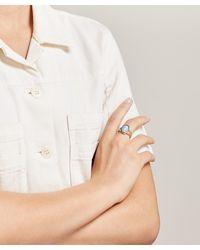 Ferian Gold Wedgwood Profile Tiny Split Ring - Metallic