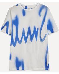 Paul Smith Spray Paint T-shirt - Blue