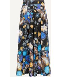 Peter Pilotto Fireworks Print Waffle Culottes - Blue
