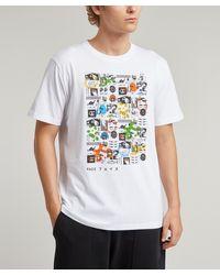 Liberty Mr Face Organic Cotton T-shirt - White