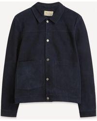 Nudie Jeans Dante Nubuck Leather Jacket - Blue