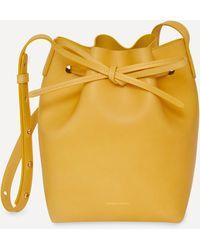 Mansur Gavriel Mini Leather Bucket Bag - Yellow