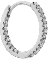 "Maria Tash 3/8"" Diamond Front-facing Eternity Hoop Earring - Metallic"