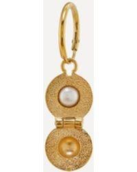 Alex Monroe X Raven Smith Gold-plated Cannonball Hidden Pearl Earring - Metallic
