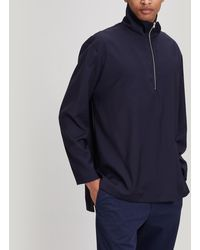 Acne Studios Taparo Half-zip High-neck Top - Blue