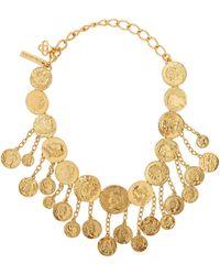 Oscar de la Renta Gold-tone Coin Necklace - Metallic