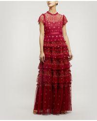 Needle & Thread Andromeda Maxi-dress - Red