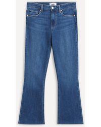PAIGE Colette Crop Flare Jeans - Blue