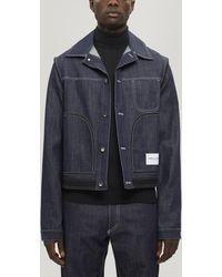 Daniel W. Fletcher Contrast Stitch Denim Jacket - Blue
