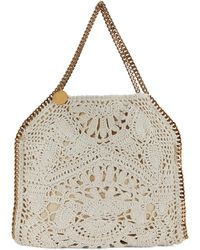 Stella McCartney Falabella Crochet Cotton Tote Bag - Natural