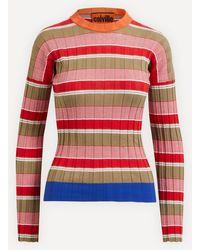 Colville Stripe Sweater - Red