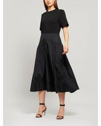 3.1 Phillip Lim T-shirt Corset Dress - Black