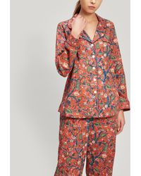 Liberty Jeweltopia And House Of Gifts Tana Lawntm Cotton Pyjama Set - Red