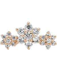 Maria Tash Diamond Flower Garland Threaded Stud Earring - Multicolour