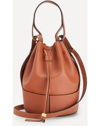 Loewe Large Balloon Leather Bucket Bag - Brown