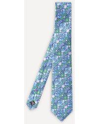 Liberty Strawberry Thief Silk Tie - Blue