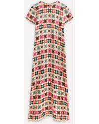 La DoubleJ Silk Swing Maxi-dress - Multicolour