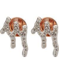 Monica Vinader - Rose Gold-plated Riva Waterfall Diamond Stud Earrings - Lyst
