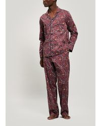 Liberty Imran Tana Lawntm Cotton Long Pajama Set - Red