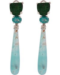 Stephen Dweck - Silver Multi-stone Drop Earrings - Lyst