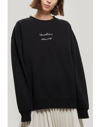 Acne Studios Fyona Oversized Cotton-jersey Sweatshirt - Black