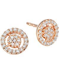 Astley Clarke - Rose Gold Mini Icon Aura Stud Earrings - Lyst
