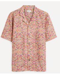 Liberty Magical Moypup Tana Lawntm Cotton Cuban Collar Casual Shirt - Multicolour