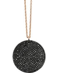 Astley Clarke - Rose Gold Large Icon Black Diamond Pendant Necklace - Lyst