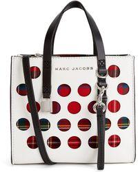 Marc Jacobs - Perforated Tartan Mini Grind Tote Bag - Lyst