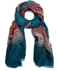 Liberty Hera 110x130 Silk Chiffon Scarf - Green