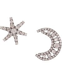 Jennifer Behr - Crystal Moon And Star Mismatched Earrings - Lyst