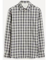 Officine Generale Giacomo Check Cotton Shirt - Gray