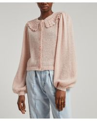 byTiMo Lace Collar Knit Cardigan - Multicolour