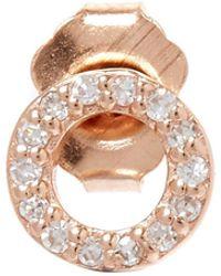 KC Designs - Rose Gold Diamond O Single Stud Earring - Lyst