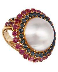 Kojis - Gold Mabe Pearl Gemstone Cluster Ring - Lyst