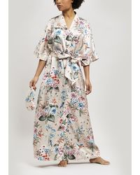 Liberty Keiko Silk Charmeuse Long Kimono - Pink
