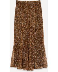 MASSCOB Opal Printed Stretch-silk Skirt - Brown