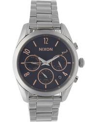 Nixon - Silver-tone Bullet Chrono Watch - Lyst