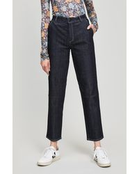 Folk - Jed Frayed Cotton Trousers - Lyst