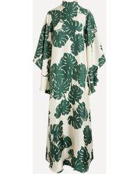 La DoubleJ Magnifico Silk Maxi-dress - Green