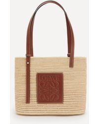 Loewe Small Square Basket Bag - Brown