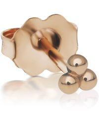 Maria Tash Three-ball Trinity Stud Earring - Metallic